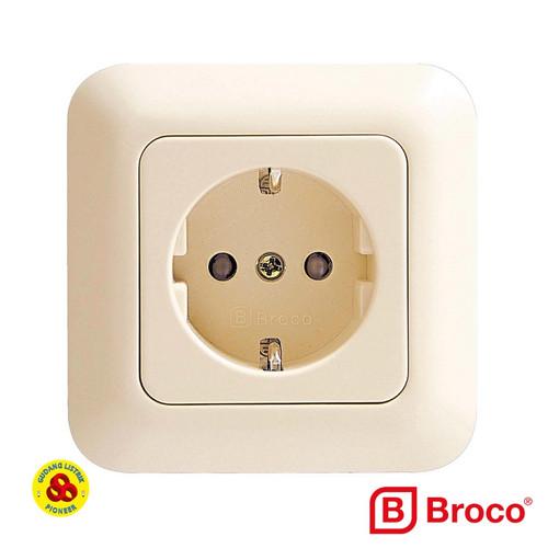 Foto Produk GRACIO STOP KONTAK 4151 CREAM BROCO - Cream dari Gudang Listrik