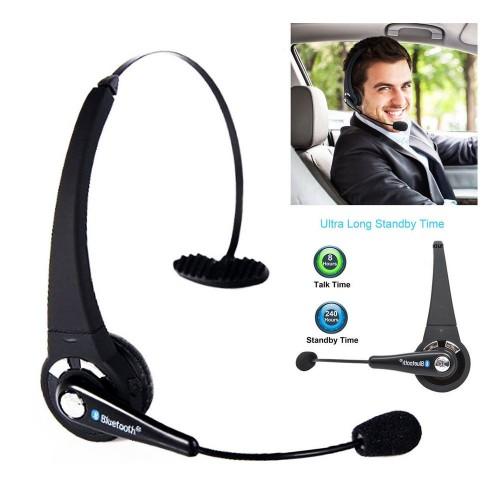 Foto Produk BTH-068 Trucker Over Head Wireless Boom Mic Headset Bluetooth dari Fixbeli