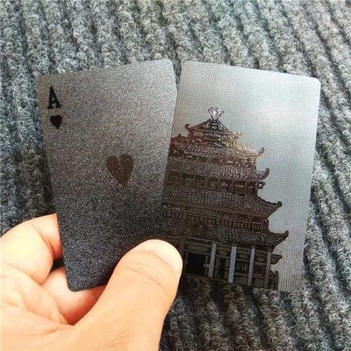 Foto Produk Black Diamond Kartu Poker Remi Plastik Waterproof Premium HQ *9K14 dari donicova