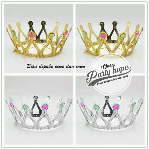 Foto Produk Mahkota pesta / ratu crown paty king / Queen ( gold & silver ) model 3 dari PARTY HOPE 2