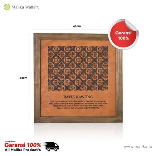 Foto Produk Dekorasi Rumah Hiasan Dinding Kulit 'Batik Kawung' dari malikawallart