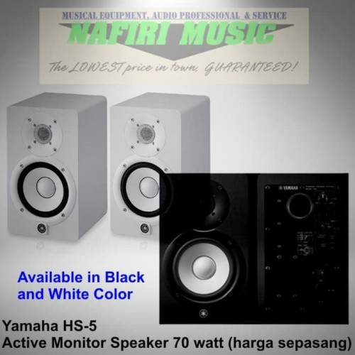 Foto Produk Studio Flat Monitor Yamaha HS-5 / Yamaha HS5 / Yamaha HS 5 harga murah dari Nafiri Music Store