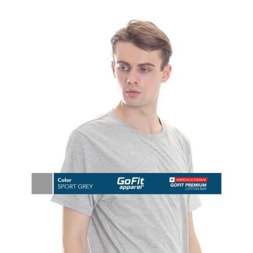 Foto Produk GoFit Premium Cotton 8600 SPORT GREY size S dari Gofit Apparel
