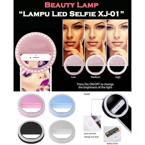 Foto Produk Lampu Selfie LED Ring Light Bigo Portable Clip - Merah Muda dari Happy Woman
