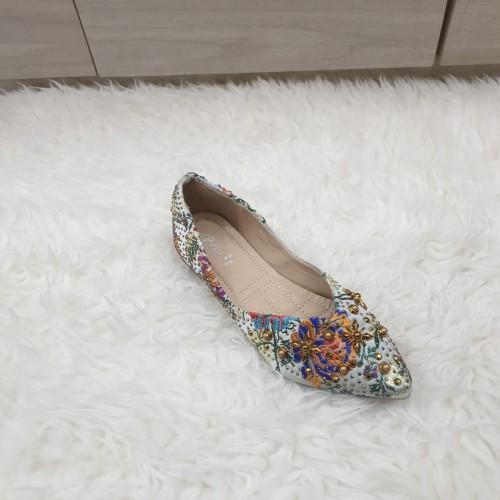 Foto Produk KENDALL flat shoes - Green dari Giselle Shoes