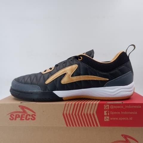 Foto Produk Sepatu Futsal Specs Metasala Nativ IN Black Gold 401218 Original BNIB dari KING OF DRIBBLE