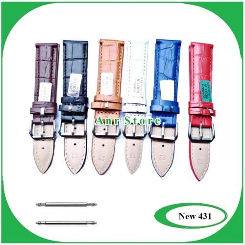 Foto Produk Tali Jam Tangan Kulit Genuine 18 20 22 24 mm Bonus Spring Bar dari nurizki