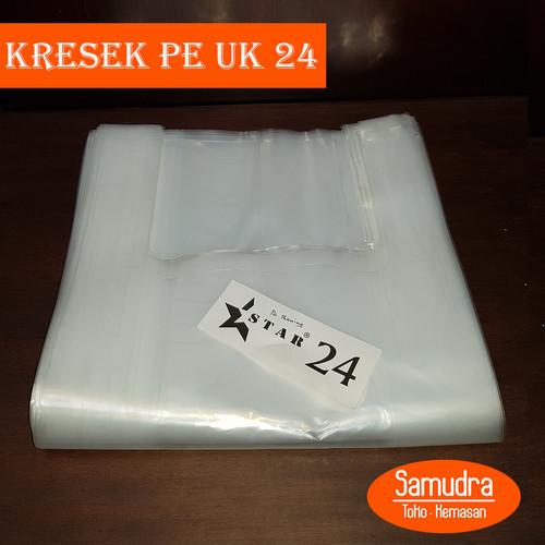 Foto Produk Kantong Keresek PE Bening uk. 24 / Kresek Transparan Tebal dari Toko Samudra Plastik