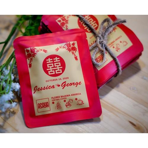 Foto Produk Shuang Xi Coffee Drip Kopi Souvenir Pernikahan Teapai Label Custom dari Asaya Coffee