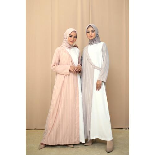 Foto Produk Nafashakila Maya Gamis, Abaya Pink dan Abu - Merah Muda dari nafashakila