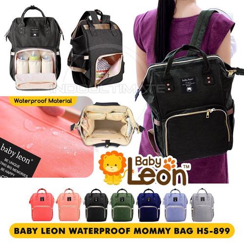 Foto Produk BABY LEON Tas ransel perlengkapan bayi/tas diaper popok bayi HS-899 - Hitam dari indo ultimate