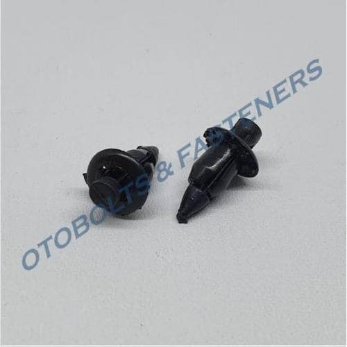 Foto Produk [PAKET 100PCS] Kancing Klip Body Plastik Kecil Rivet Hitam dari Otobolts & Fasteners
