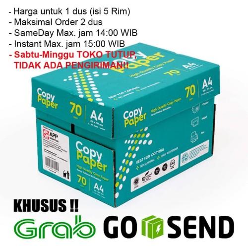Foto Produk Kertas HVS A4 Copy Paper 70 gsm 1 Dus/5 Rim (KHUSUS GOSEND/GRAB) dari HQ Stationary and Packaging