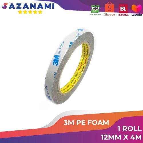 "Foto Produk Double Tape busa 3M Pe Foam Tape 12mm x 4M 1/2"" Inch dari Sazanami Tape"