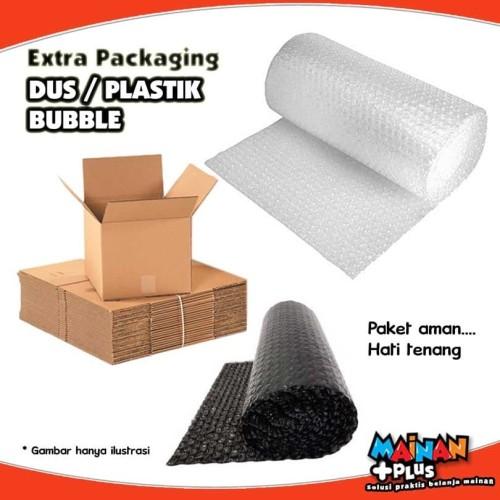 Foto Produk Extra Packaging Tambahan Biar Aman - Dus Plastik Bubble Wrap dari MainanPlus