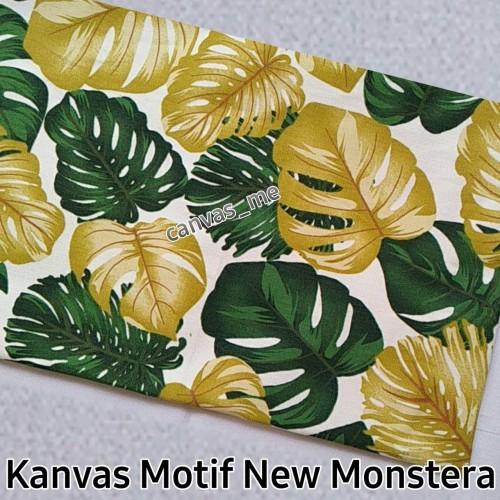 Foto Produk Kain Kanvas Motif New Monstera Pjg 0,5m x Lbr 1,5m dari canvas_me