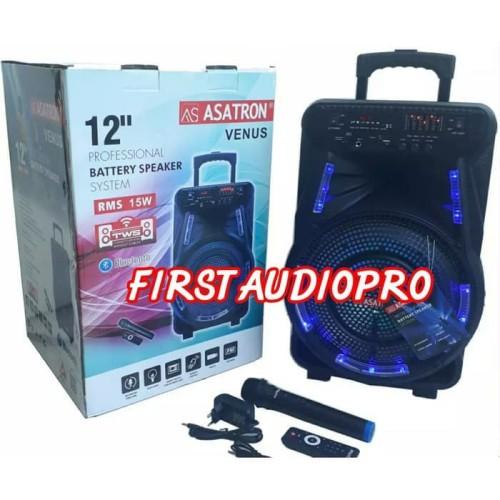 Foto Produk SPEAKER PORTABLE WIRELESS MEETING ASATRON HT-8880 ( 12 INH ) dari First Audio Pro