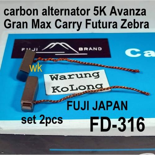 Foto Produk ARANG DINAMO PENGISIAN ALTERNATOR AVANZA GRAN MAX 5K CARRY ZEBRA FUJI dari Warung KoLong 542