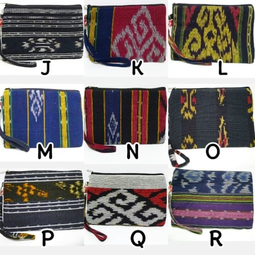 Foto Produk Dompet Etnik Murah Ethnic Pouch Tenun Batik Tas Tangan Handbag dari Lousie Fashion