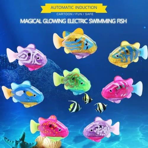 Foto Produk Robo Fish - Mainan Ikan berenang untuk Mandi anak / Mainan Mandi Anak dari OyaOna Shop