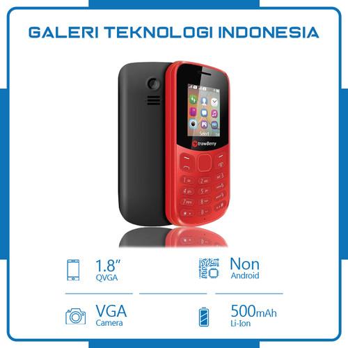 Foto Produk HP MURAH - STRAWBERRY ST338 KING - DUAL SIM - FM RADIO - GETAR-BLACK - Hitam dari Galtekindo