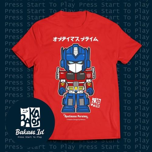 Foto Produk Bakaos Optimus Prime kaos pria tshirt transformers - TulisWarna, S dari Bakaos