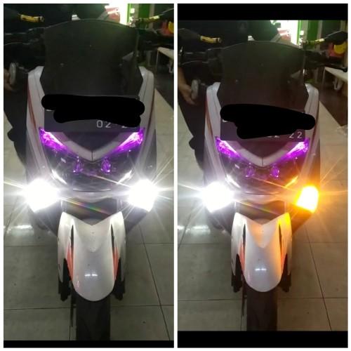 Foto Produk Lampu Senja Led Dan Sen Nmax 155 Aerox Xmax 250 2 Mode LUMINOS 9 NINE - Putih dari Lestari Motor 2