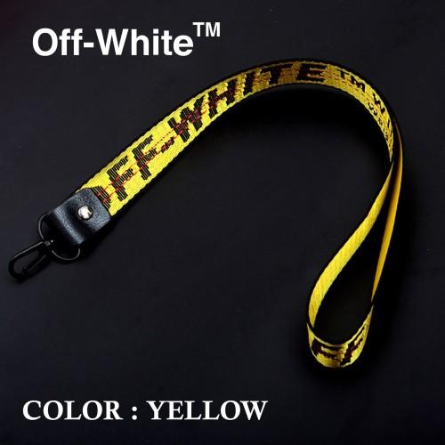 Foto Produk TALI GANTUNGAN LEHER ID CARD | HANDPHONE | HP NECK STRAP OFF WHITE - Kuning dari All the Things I Need