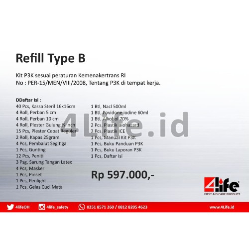 Foto Produk 4Life First Aid - Refill Type B dari 4Life Indonesia PT DHS
