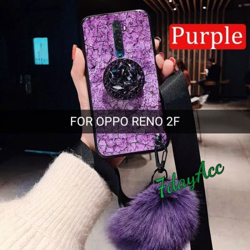 Foto Produk OPPO RENO 2F LUXURY BLING CASE MOTIF DIAMOND CASING SOFT HARD RENO2 F dari 7dayAcc