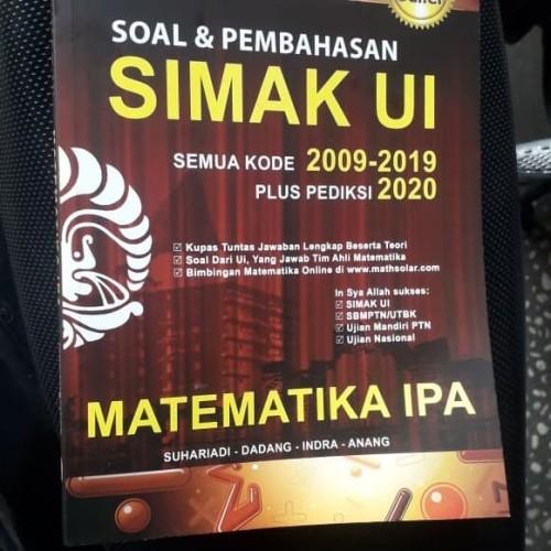 Foto Produk Buku Soal dan Pembahasan SIMAK UI Matematika IPA 2009-2019 +2020 dari adisuhar