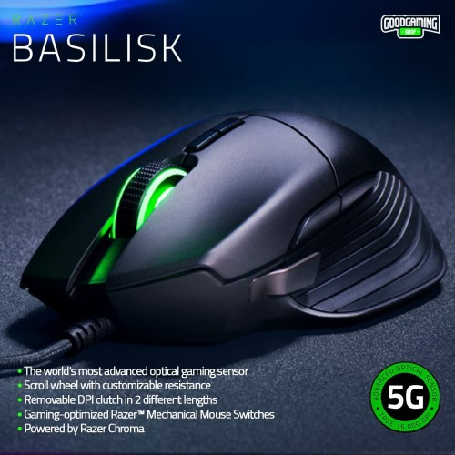 Foto Produk Razer Basilisk Advance FPS Gaming mouse dari GOODGAMINGM2M