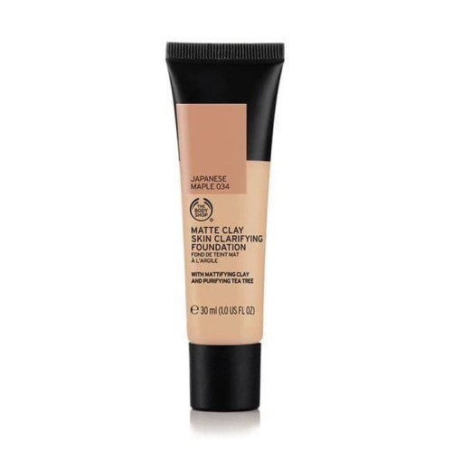 Foto Produk The Body Shop Matte Clay Foundation 034 Japanese Maple 30ml dari The Body Shop Indonesia