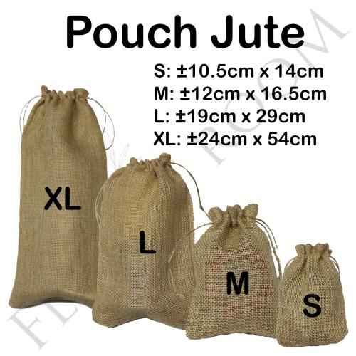 Foto Produk Pouch Jute - Goni - Florist - Burlap - Kantong Bunga - Hiasan - S dari Florist Room