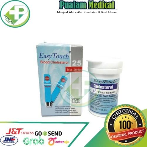 Foto Produk Strip EasyTouch Cholestrol 10' strip dari pualam medikal
