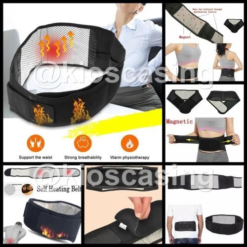 Foto Produk Tourmaline Pinggang Back Waist Support Sabuk Terapi Pemanas Magnetic - Harga 1 Buah, L dari kioscasing
