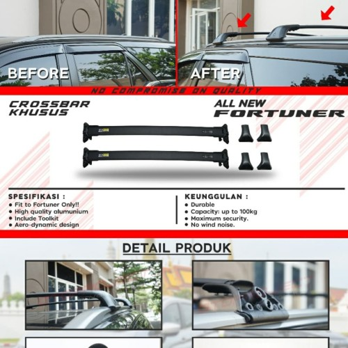 Foto Produk Cross Bar / Crossbar Otoproject Khusus All New Fortuner Vrz TRD dari Mega Oriental Motor