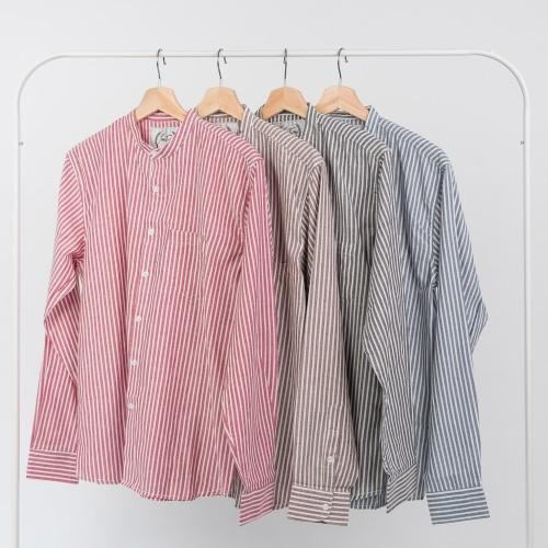 Foto Produk Kemeja Stripes / Kemeja Pria Lengan Panjang Salur dari CredoMenStore