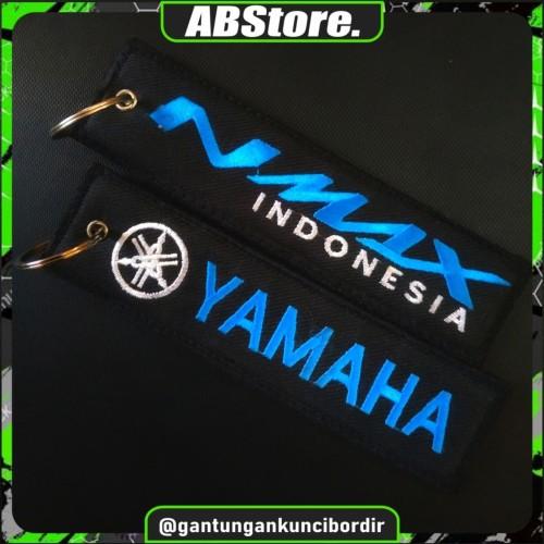 Foto Produk Keychain Keytags Gantungan Kunci Bordir NMAX INDONESIA Premium dari AB Embroidery Store