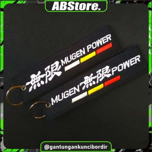 Foto Produk Keychain Keytags Gantungan Kunci Bordir MUGEN POWER Premium dari AB Embroidery Store