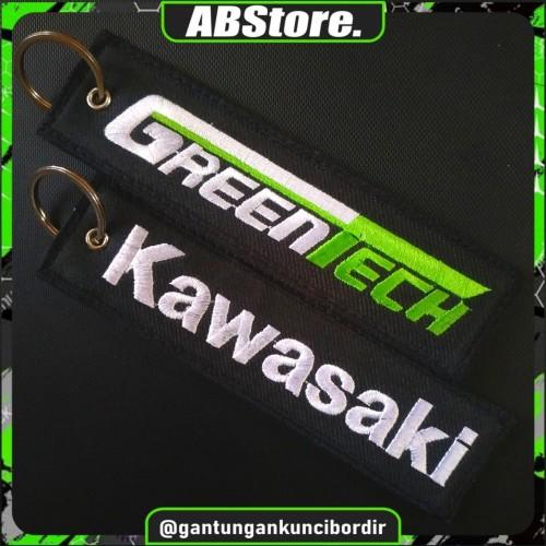 Foto Produk Gantungan Kunci Motor/Mobil Bordir KAWASAKI GREENTECH dari AB Embroidery Store