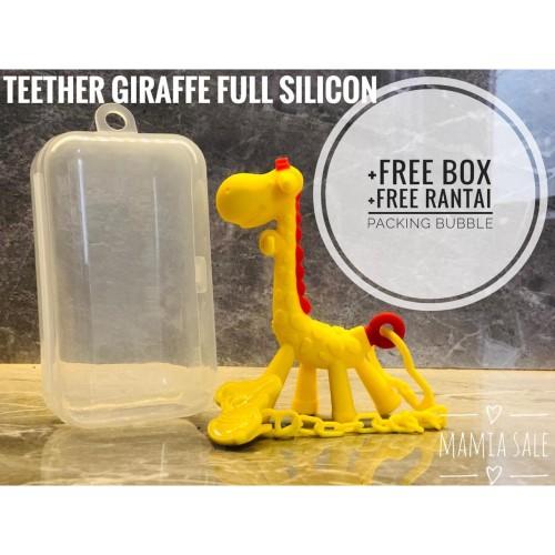 Foto Produk teether giraffe mainan gigi gigitan bayi baby jerapah dari Mamia Sale