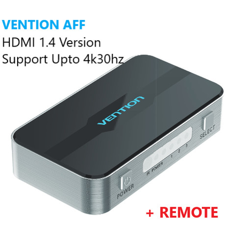 Foto Produk Vention AFF HDMI Switcher (3 in 1 out) 4K 3D FullHD High Quality - AFF dari VENTION by SinsheTekno