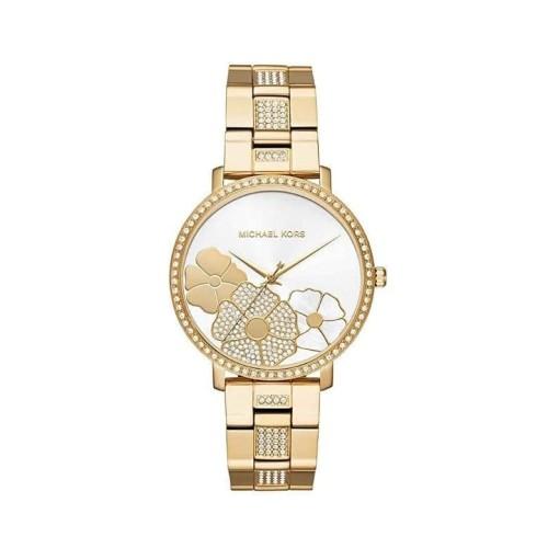 Foto Produk Jam Tangan Michael Kors MK3864 Jaryn Gold Floral Stainless Steel Watch dari Ka'il Fossil Olshop