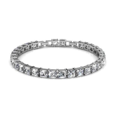 Foto Produk Square Tennis Bracelet - Gelang Crystal Swarovski by Her Jewellery dari Her Jewellery