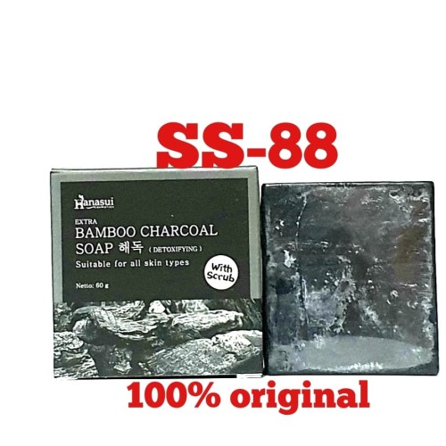 Foto Produk HANASUI EXTRA BAMBOO CHARCOAL SOAP ~ DENGAN SCRUB dari Sumber sehat 88