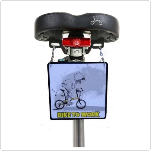 Foto Produk Gantungan sadel sepeda bike to work edisi sepeda lipat polygon dahon dari diks adventure