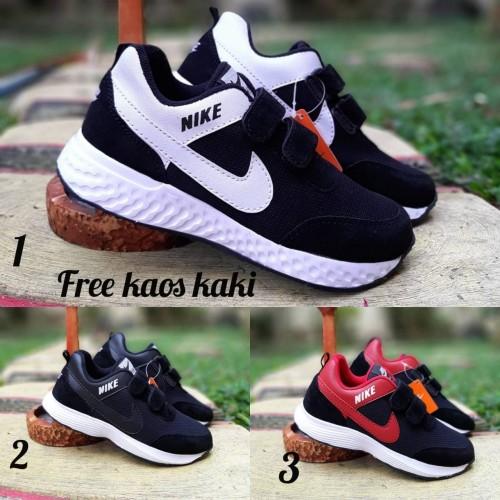 Foto Produk Nike Neo Zoom size 33 - 37 sepatu anak sneakers sekolah hitam putih - 32, Putih dari supplier sepatu 189