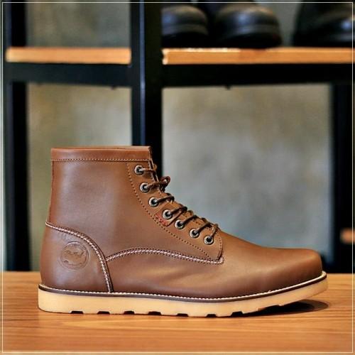 Foto Produk BRADLEYS - Sepatu Boots Casual Pria - ANCHOR dark brown- Kulit asli - Cokelat, 39 dari Bradleys Footwear