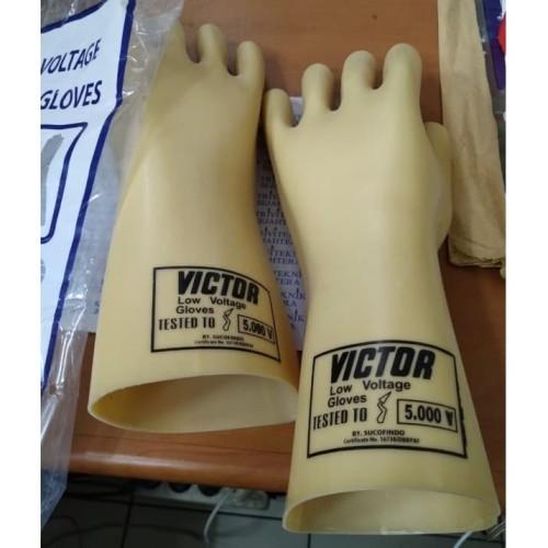 Foto Produk Insulating Glove 5000 volt victor,sarung tangan listrik dari harga pass